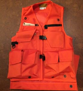 An Image of A Klamath Extreme Cruiser Forestry Vest In Orange