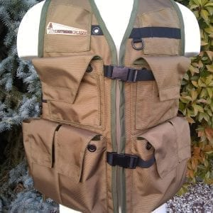 Image of Rogue Extreme Cruiser Vest In Coyote Color With Forest Green Binding