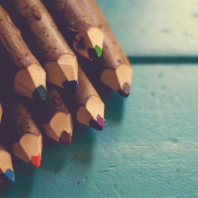 image of colored pencils for website design
